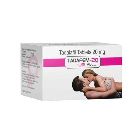 Tadafem 100mg Tablets Pink Colour for Women
